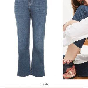 topshop Weekend Dree Crop Flare Jeans